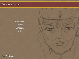 Reckless Squad's old main menu