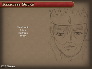 Reckless Squad's new main menu